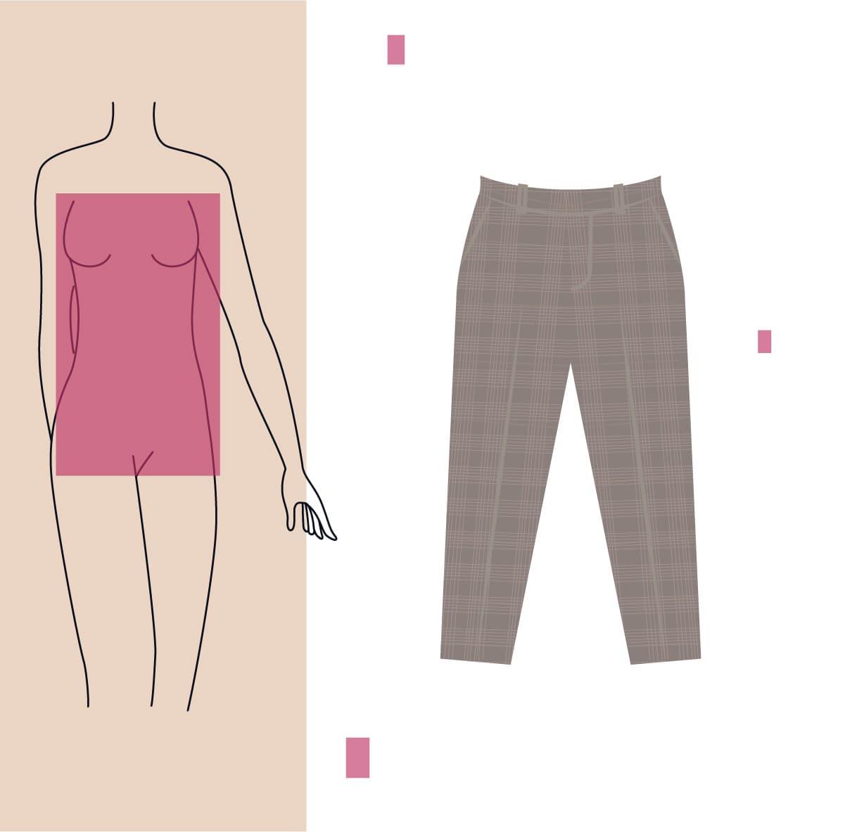 pantalon chino para cuerpo rectangular