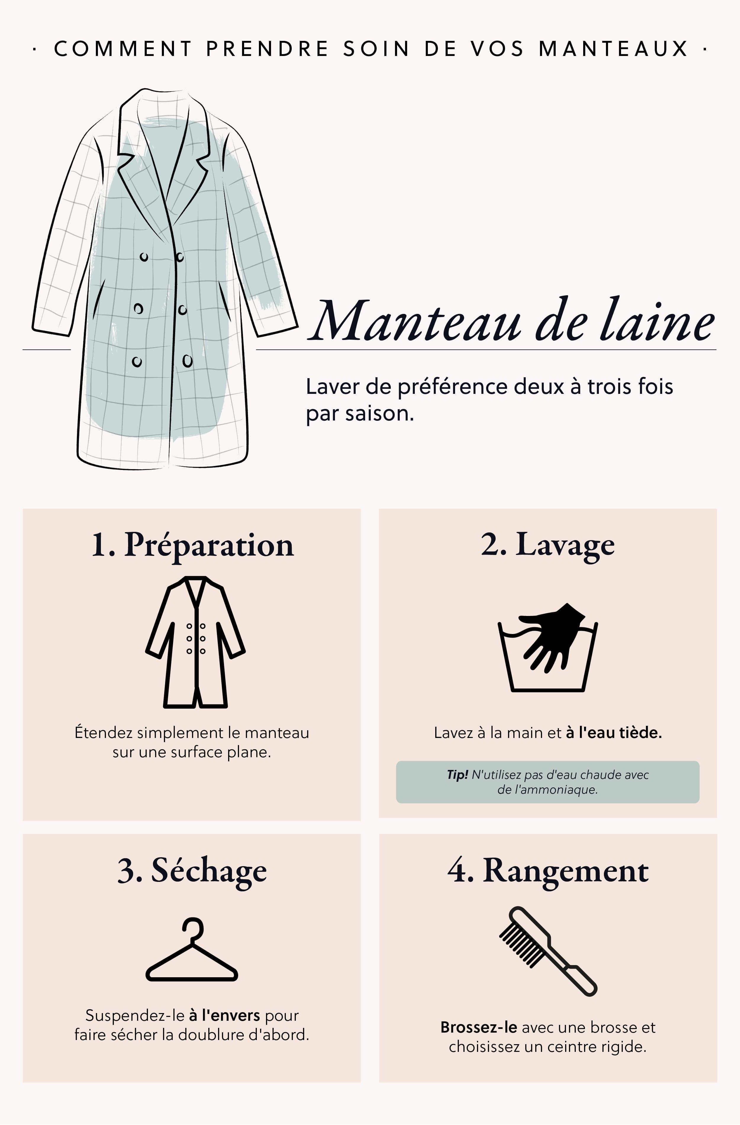 lavarge manteau de laine