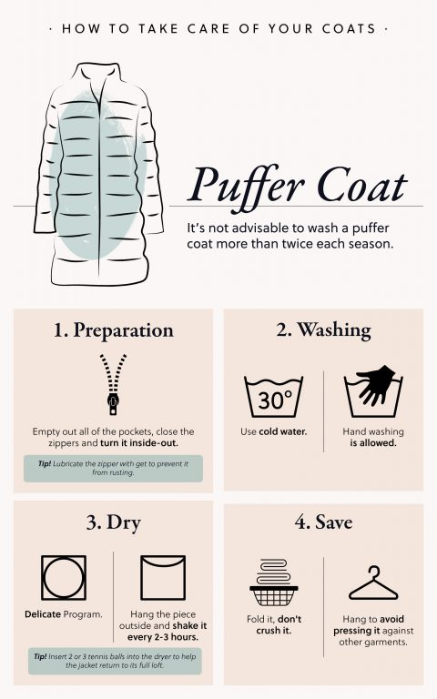 how to take care of a puffer coat