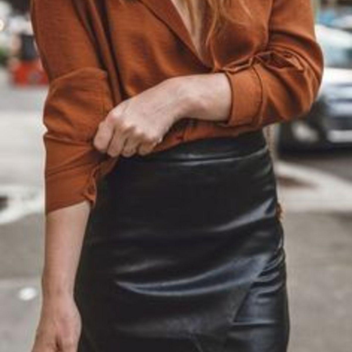 falda efecto cuero inspiracion