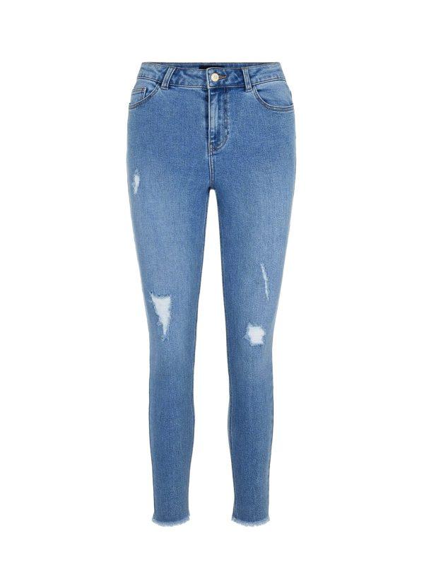 skinny y broken jeans