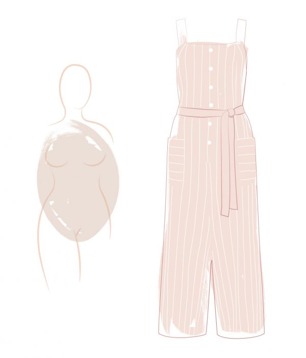 Best jumpsuits for an oval silhouette