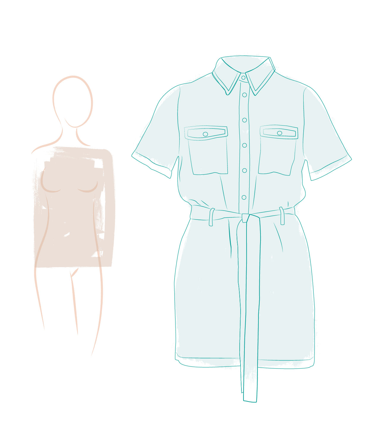 Jumpsuits for a rectangular silhouette