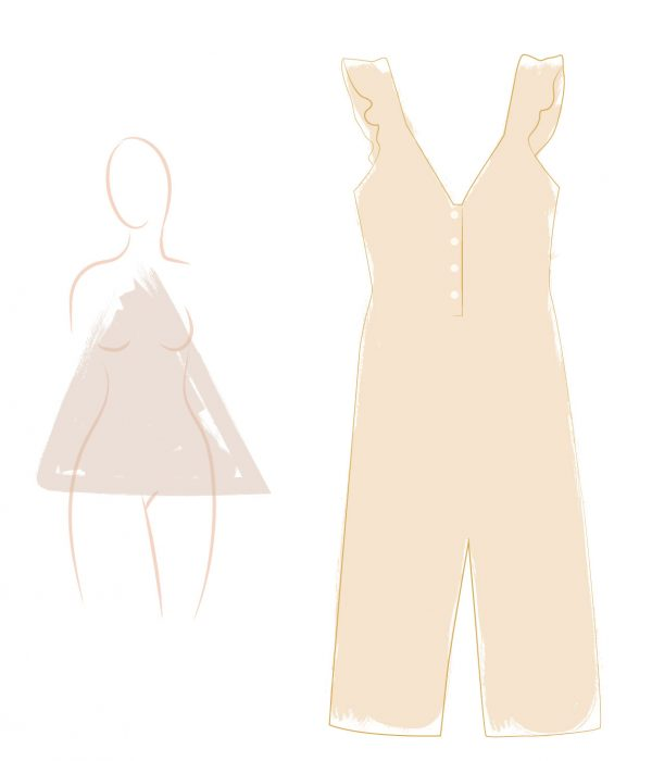 Best jumpsuits for triangular silhouette