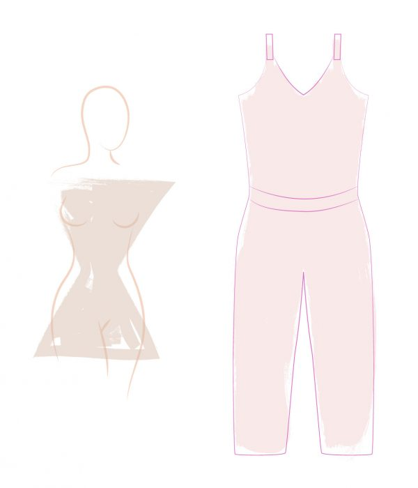 Jumpsuits for an hourglass silhouette
