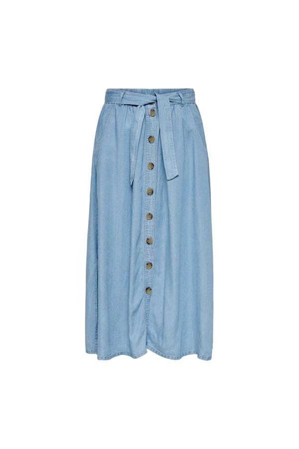 jupe jean midi capsule wardrobe ete