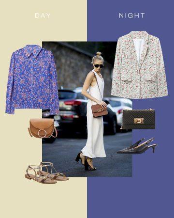 Look classique en robe blanche longue