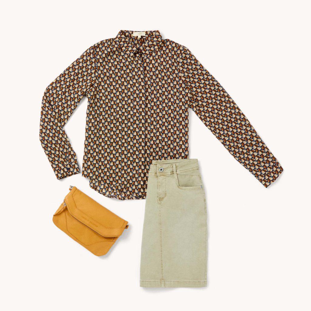 tenue chemise géométrique