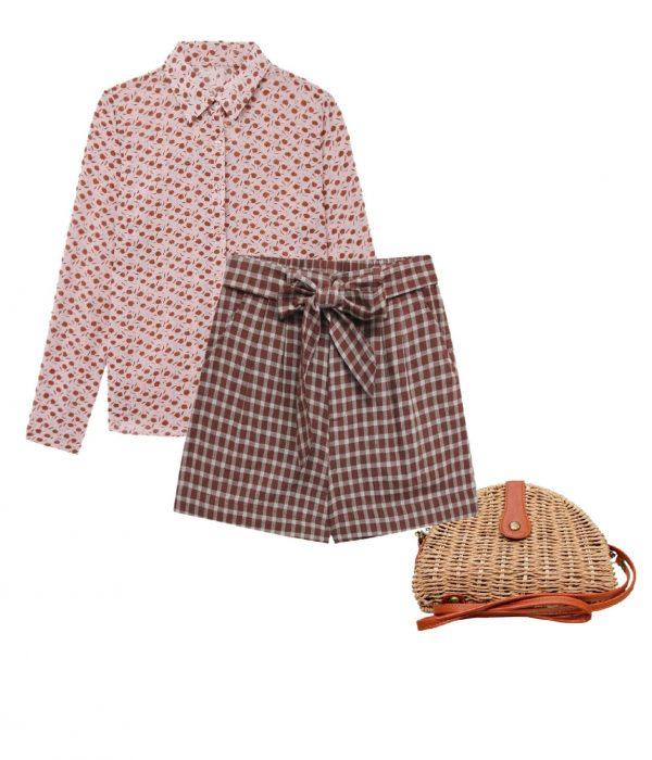 look vichy mix and match shorts paper bag