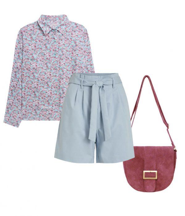 look short paper bag pastel romantique