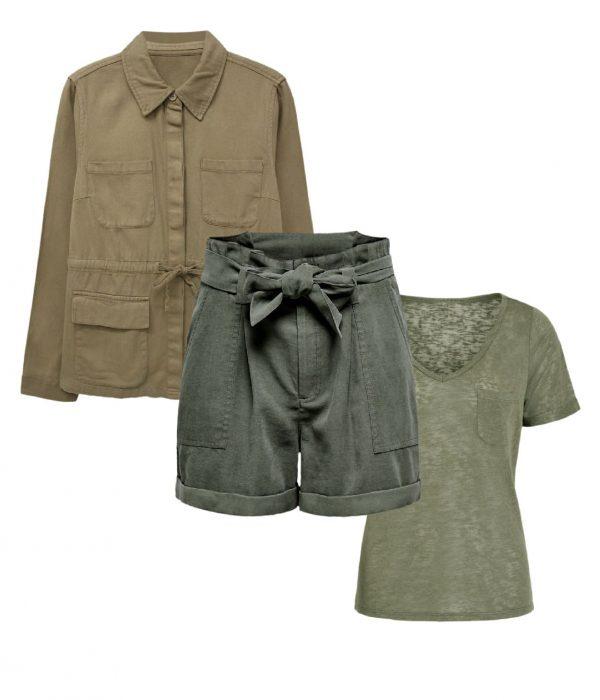 look safari paper bag shorts