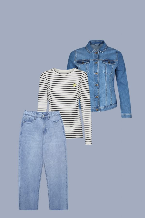 Outfit teal jeans Straight