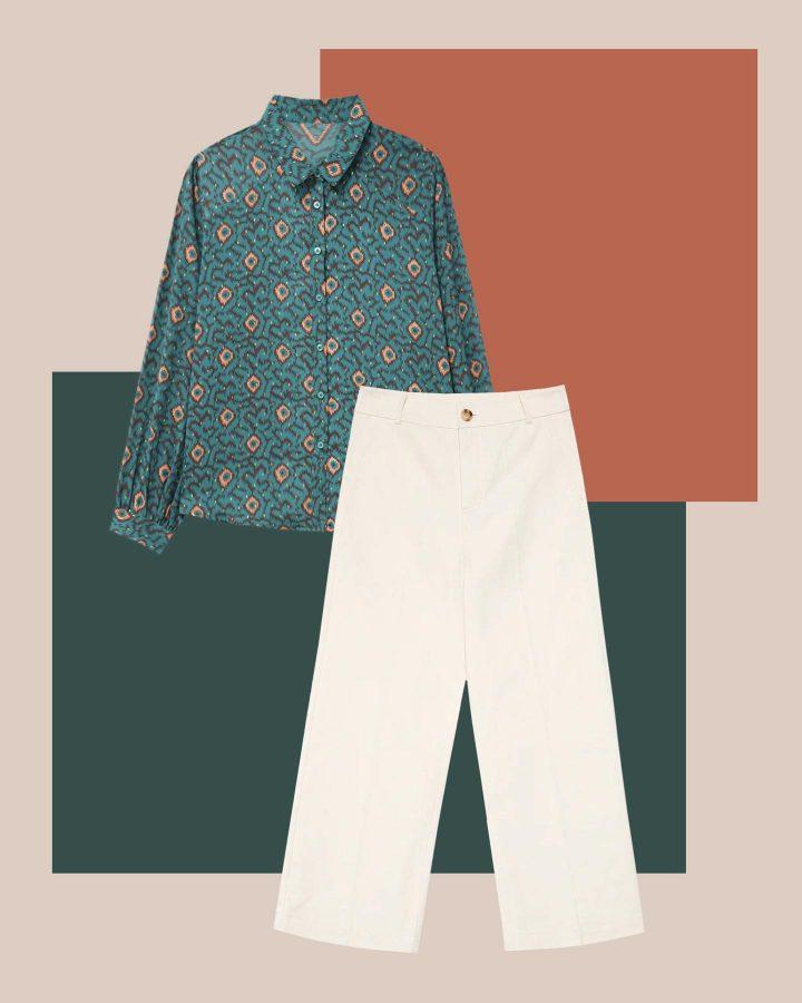 look camisa boho y pantalón culotte