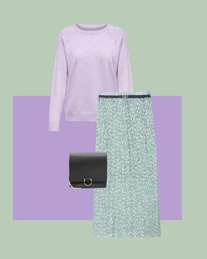 look verde menta y lila