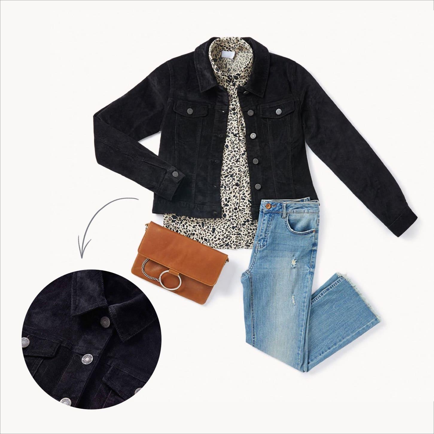 La veste en velours côtelé