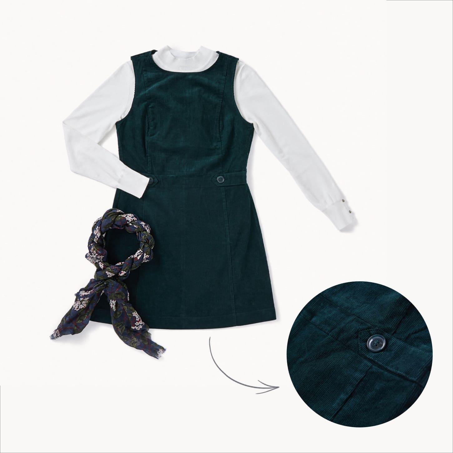la robe en velours côtelé