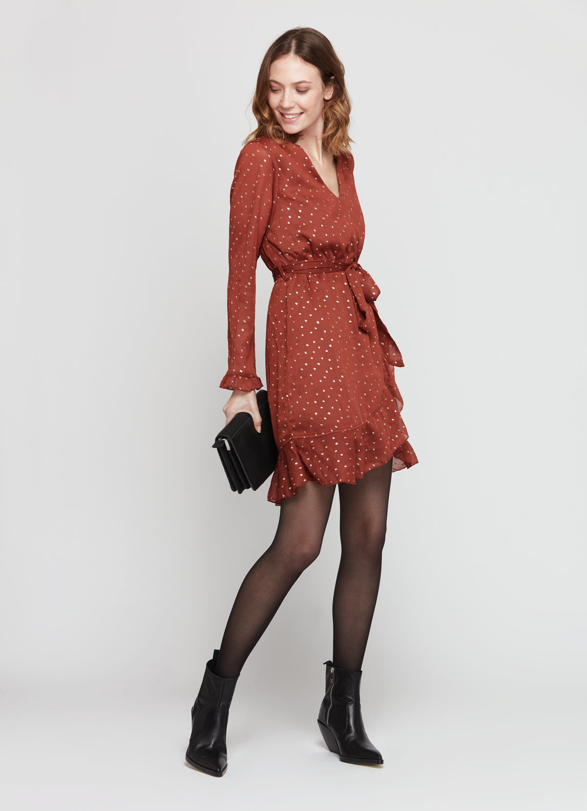 robe terracota noel tenue