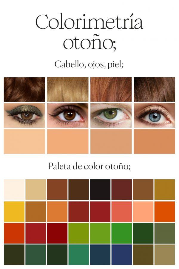 paleta de color para mujer otoño