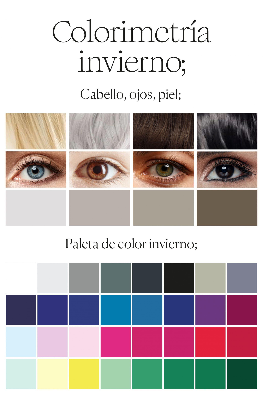 paleta de color estacion invierno