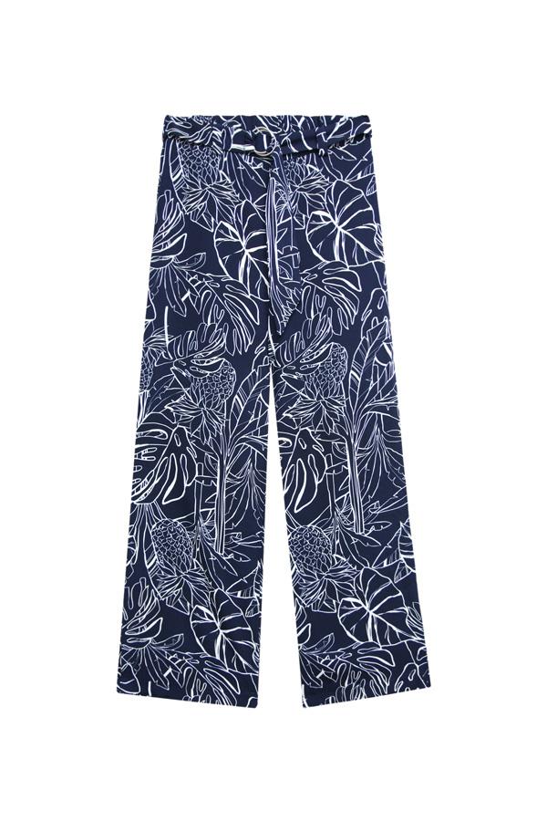 pantalon recto estilo palazzo