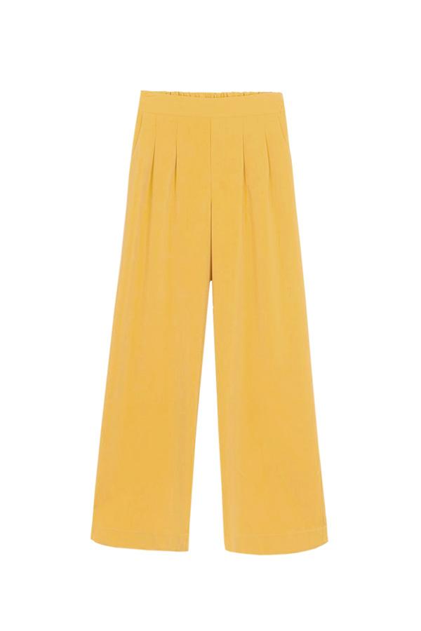 pantalón amarillo para mujer tall