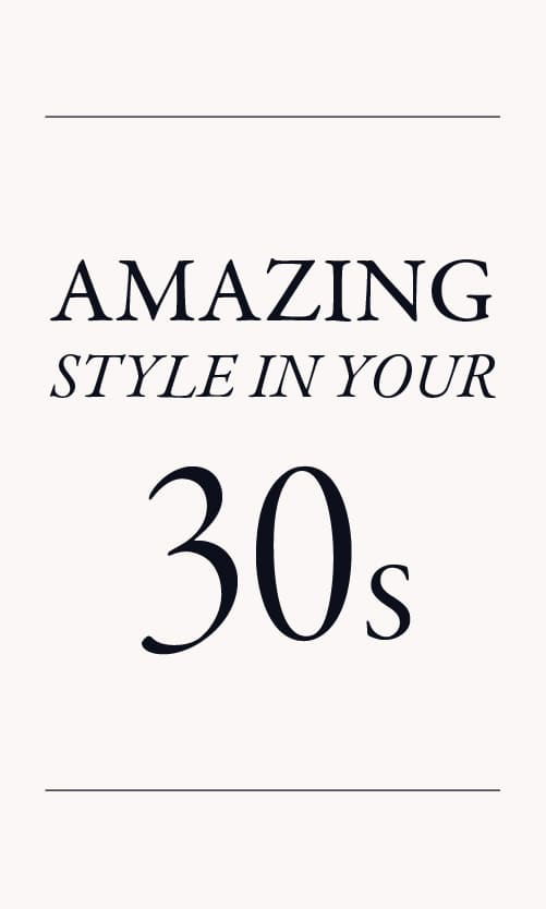 style in your 30s