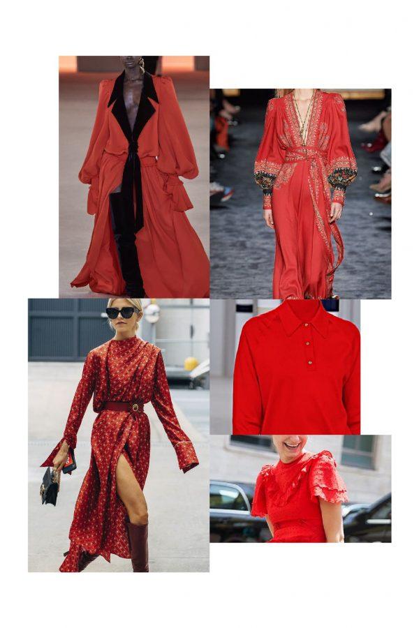 rouge couleur automne hiver 2020-2021