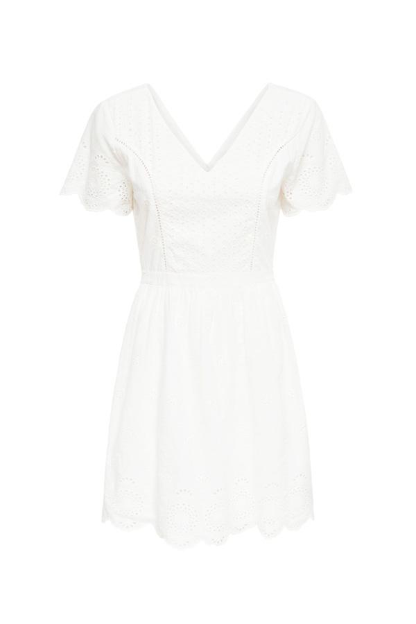 robe blanche le coton