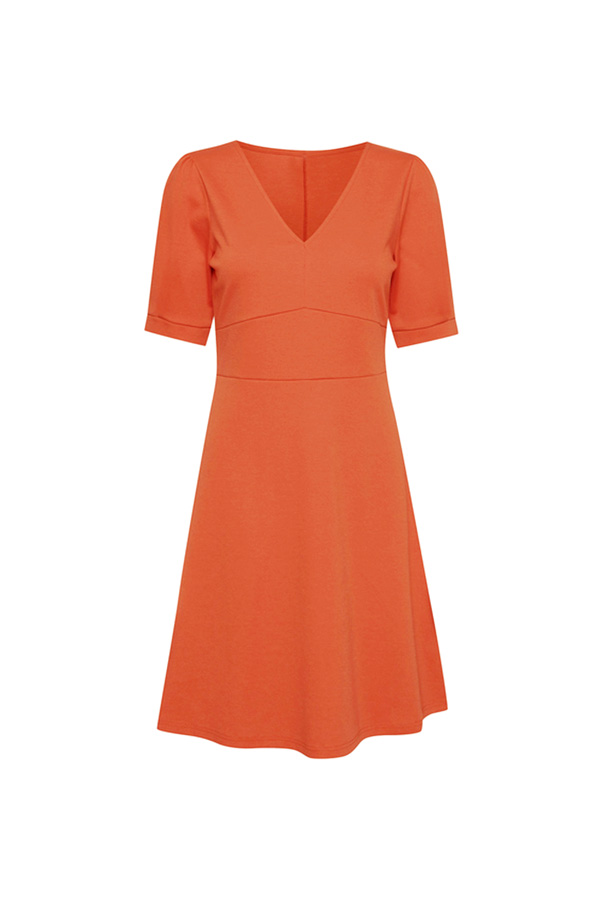 robe orange losange