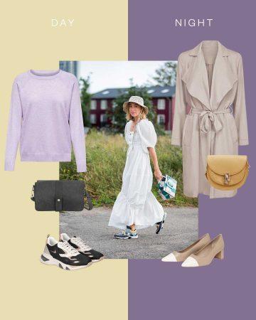 Look originale en robe blanche romantique