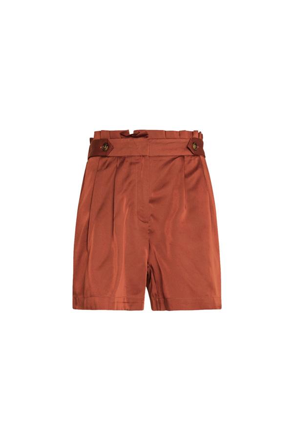shorts lyocell rouge