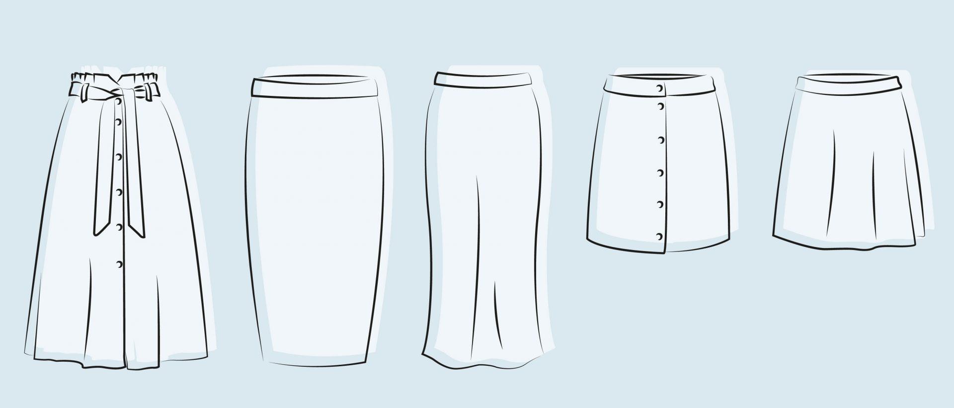 abc skirt , type of skirts