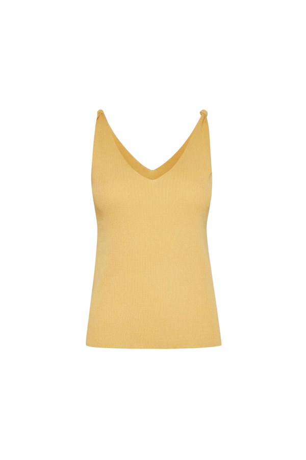 yellow V top for full bust