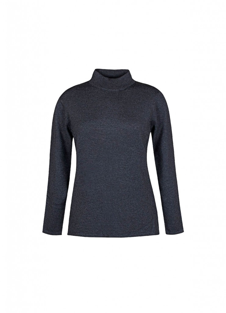 Long-sleeved t-shirt with a Perkins neck