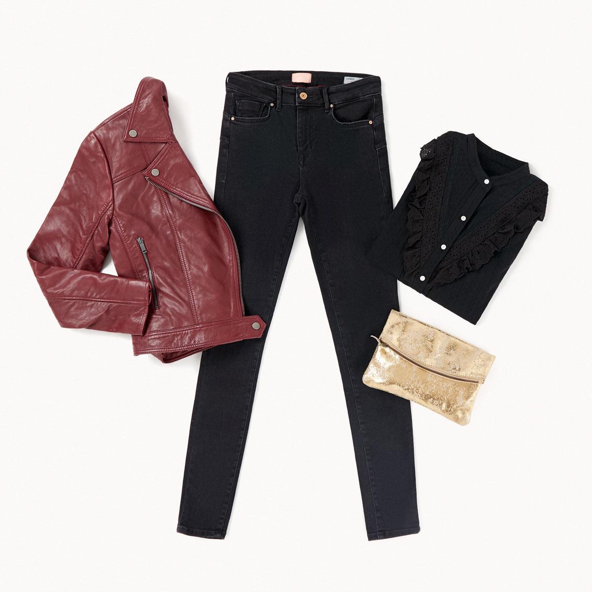 jeans noir total black look