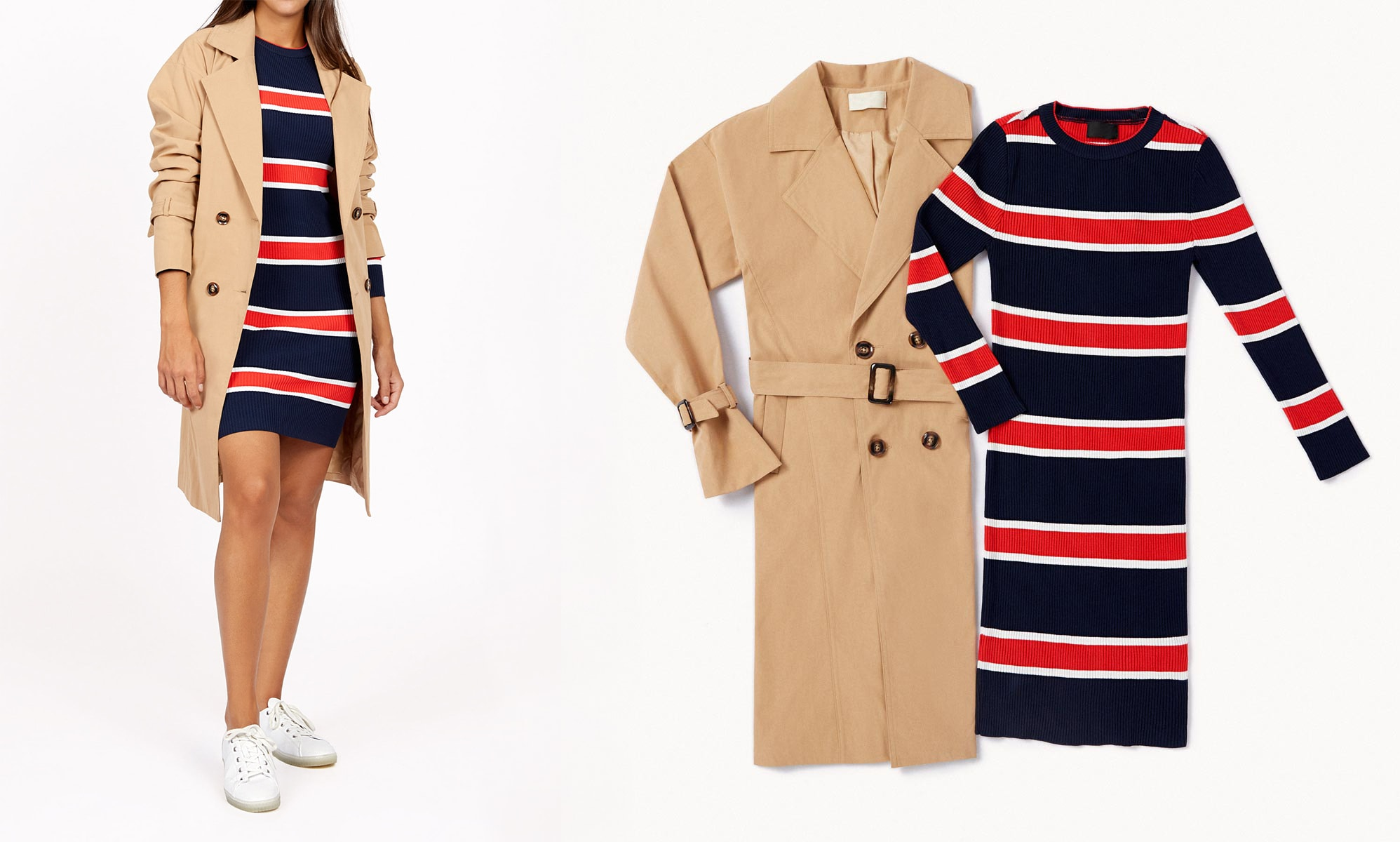 trench sport lady outfit otoño