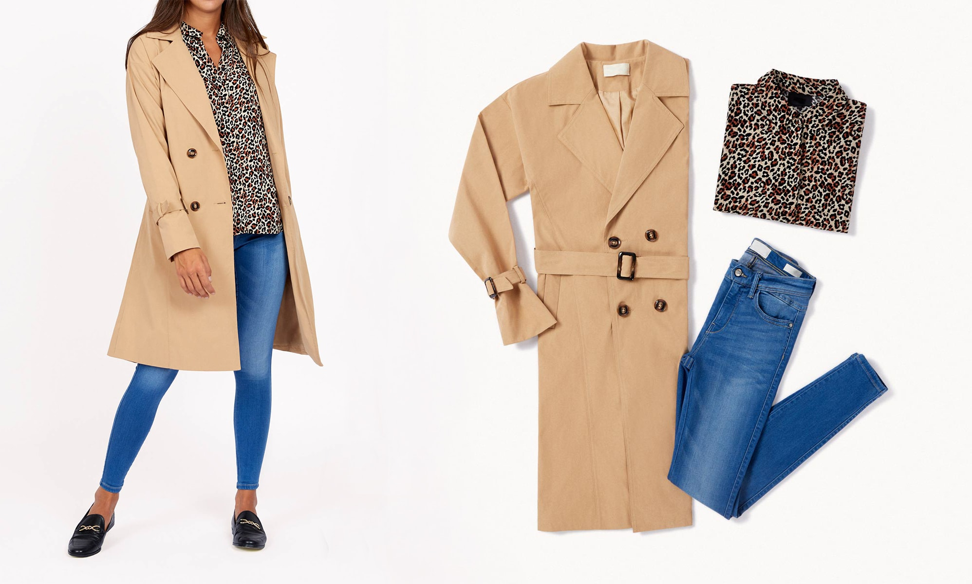 trendy chic outfit con trench